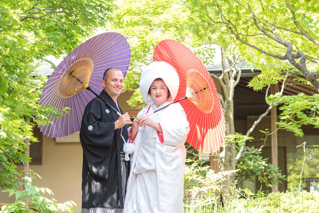 Wedding photos in Japanese Garden