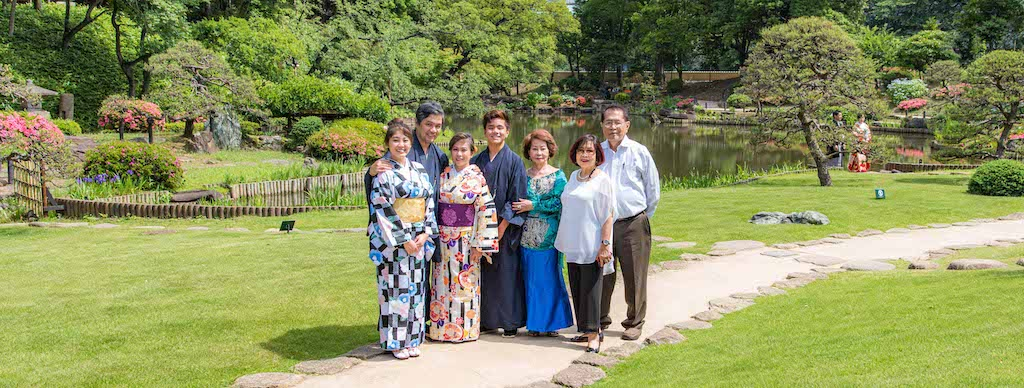 Family Photo-shoot in Japanese Garden