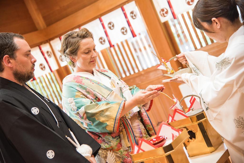 Shinto Wedding Sake Drinking Ritual
