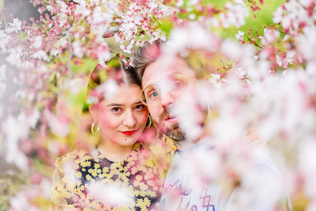 Surprise Vow Renewal among the Cherry Blossom
