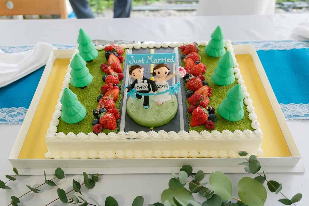 Race Themed Wedding Cake