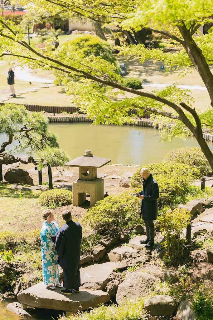 Destination Vow Renewal in Beautiful Japanese Garden